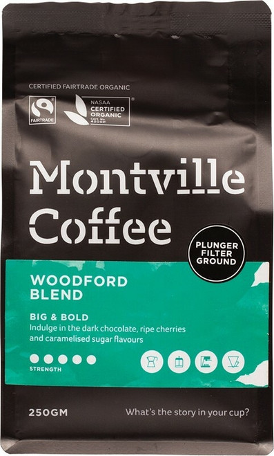 Woodford Plunger 250g by Montville Coffee