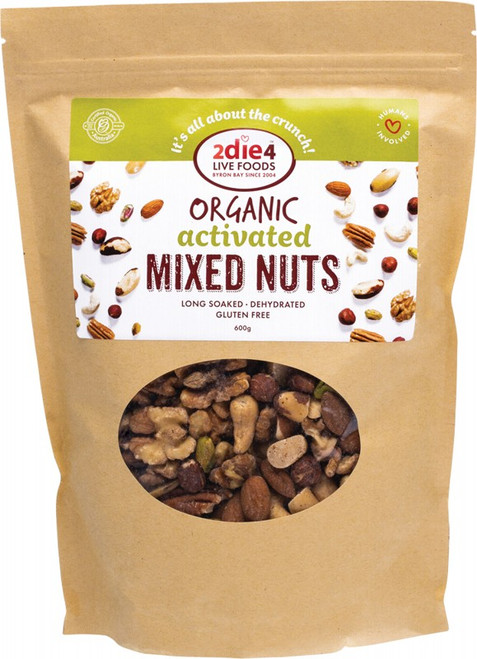 Organic Mixed Nuts 600g by 2DIE4 LIVE FOODS