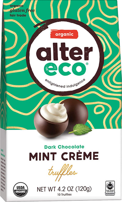 Alter Eco Dark Chocolate Mint Truffles 60x 12g