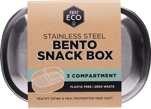 Ever Eco Stainless Steel Snack Box  (3 Compartments)