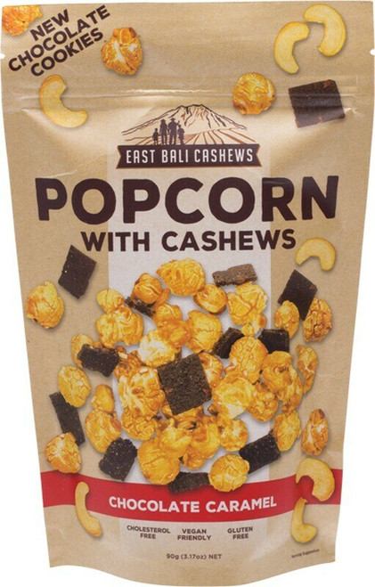 East Bali Cashews Chocolate Caramel Popcorn 90g