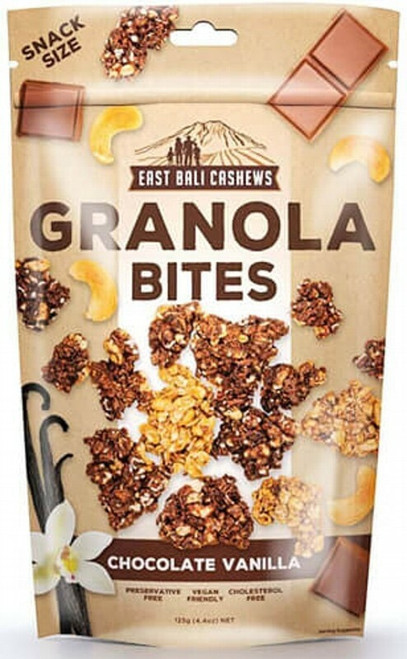 East Bali Cashews Chocolate Vanilla Granola Bites 150g