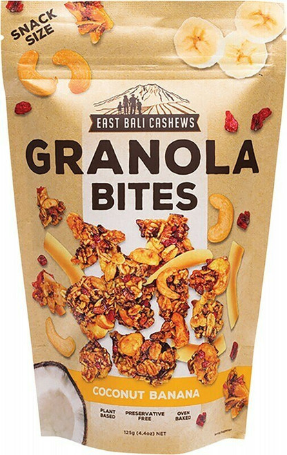 East Bali Cashews Coconut Banana Granola Bites 125g