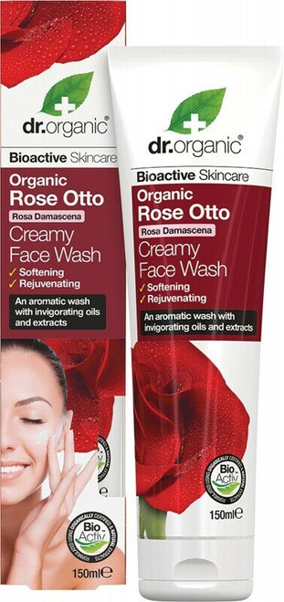 Creamy Face Wash Organic Rose Otto 150ml Dr Organic