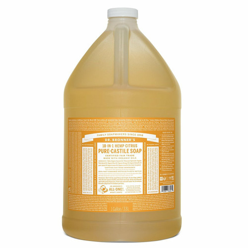 Pure-Castile Liquid Soap 3.78L - Citrus Orange by Dr. Bronner's