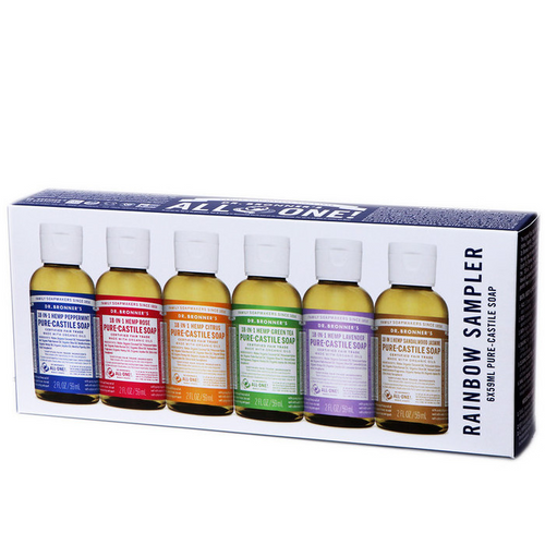 Dr. Bronner's Rainbow Sampler Pack 6 x 59ml