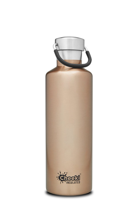 Cheeki Stainless Steel Bottle Insulated in Champagne 600ml