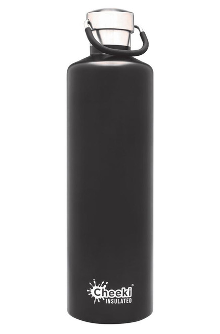 Cheeki Stainless Steel Bottle Insulated Matte Black 1L