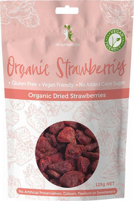 Dr Superfoods Organic Strawberries 125g