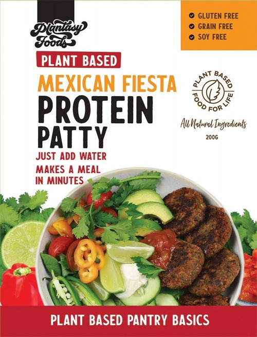 The Gluten Free Food Co Protein Patty Mexican Mix 200g
