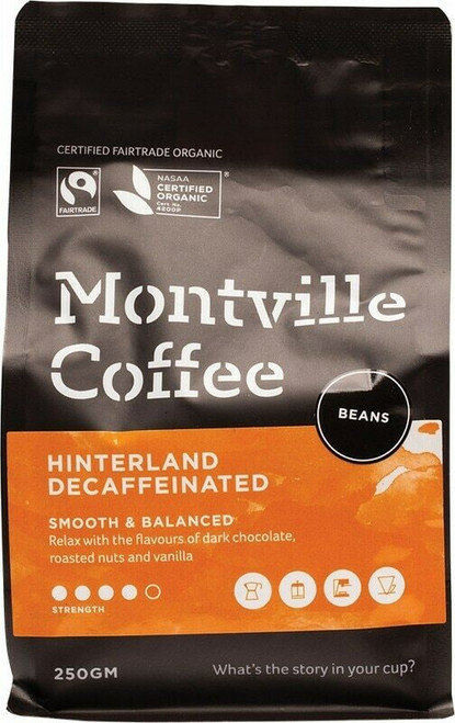 Montville Coffee Decaf Beans 250g