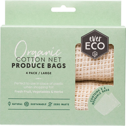 Ever Eco Cotton Net Produce Bags 4Pk