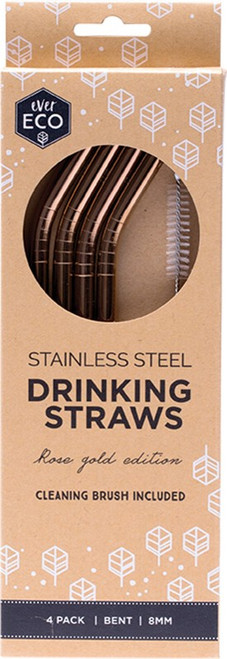 Ever Eco Rose Gold Bent Straws 4