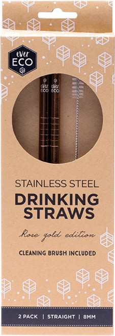 Ever Eco Rose Gold Straight Straws 2