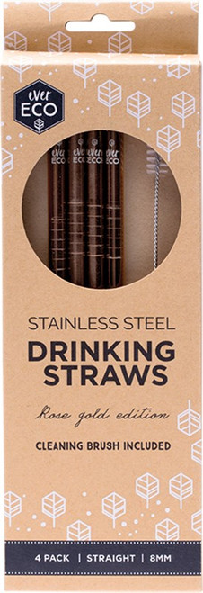 Ever Eco Rose Gold Straight Straws 4