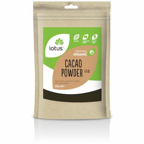 Lotus Cacao Powder Raw Organic 250g