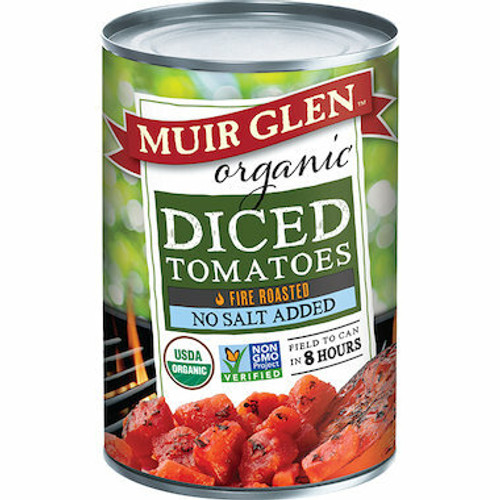 Muir Glen Tomatoes Fire Roasted Diced Organic 411g
