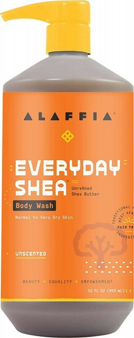 ALAFFIA Everyday Shea Body Wash - Unscented 950ml