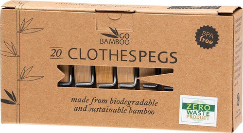 Clothes Pegs 20 Pegs By Go Bamboo