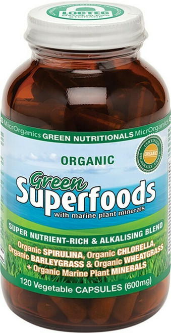 Green Nutritionals Green Superfoods Capsules 120 Capsules