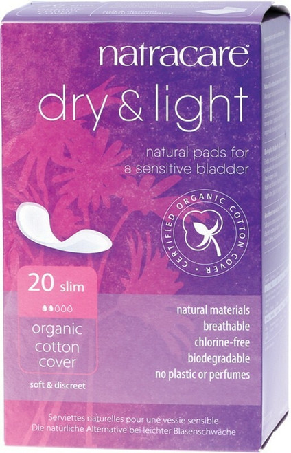 NATRACARE Incontinence Pads Dry & Light Slim x20