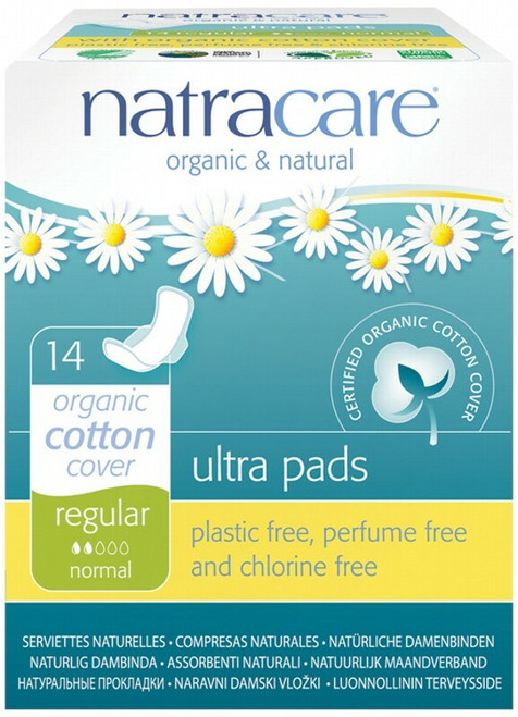 Regular Ultra Wings Pads 14 Pads By Natracare