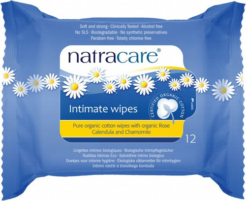 Natracare Intimate Wipes 12 Wipes