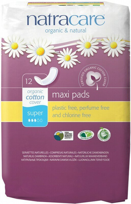 Natracare Super Pads 12 Pack