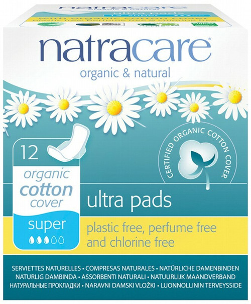 Natracare Super Ultra Wings Pads 12 Pads