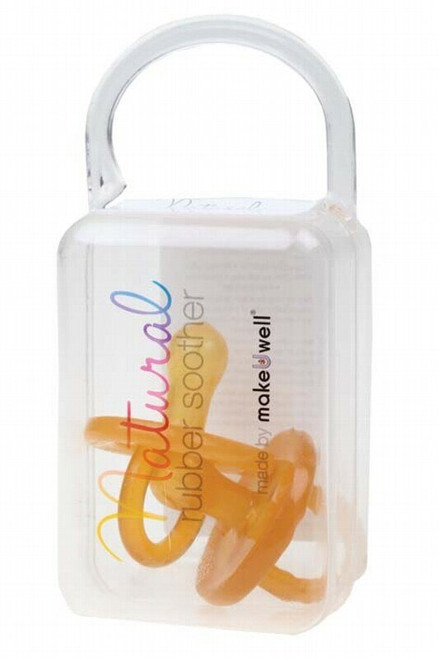 Natural Rubber Soothers/Dummy Soother Twin Pack Small Rounded (0 3 mths) x 2