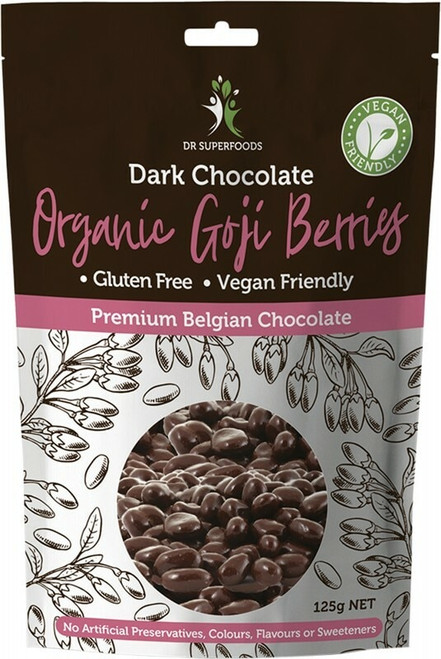 DR SUPERFOODS Goji Berries Organic Dark Chocolate 125g