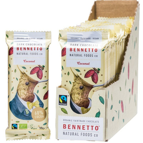Bennetto Dark Chocolate Coconut 22x 30g