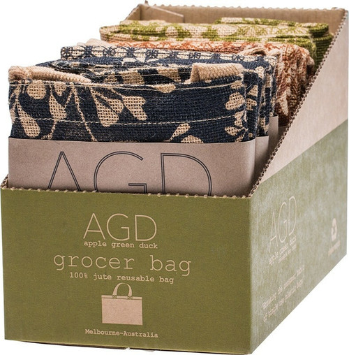 Apple Green Duck Grocer Bag Mixed x 9