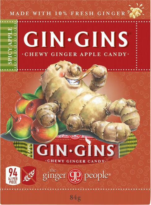 The Ginger People Gin Gins Apple Chewy Candy Box 84g