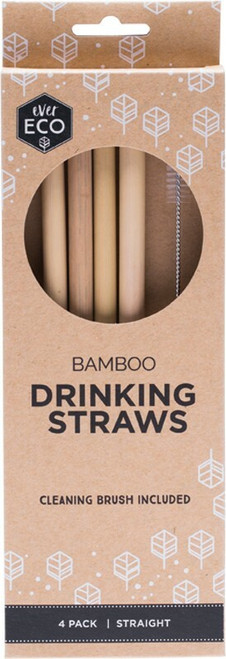 Ever Eco Bamboo Straws 4 Packet