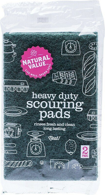 Natural Value Heavy Duty Scouring Pads 2