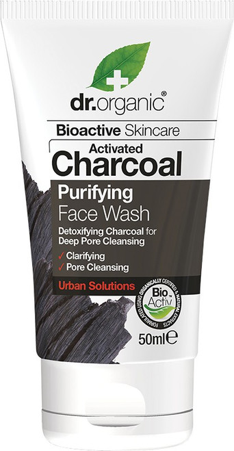 DR ORGANIC Face Wash (Mini) Activated Charcoal 50ml