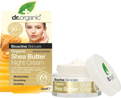 Dr. Organic Night Cream Organic Shea Butter 50ml