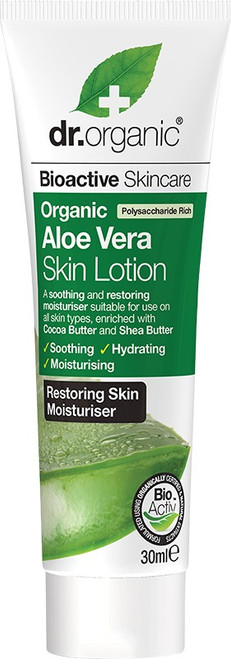 Dr. Organic Travel Size - Skin Lotion Organic Aloe Vera 30ml