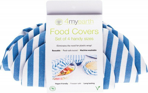 4MyEarth Food Cover Set Denim Stripe XS, S, M & L 4