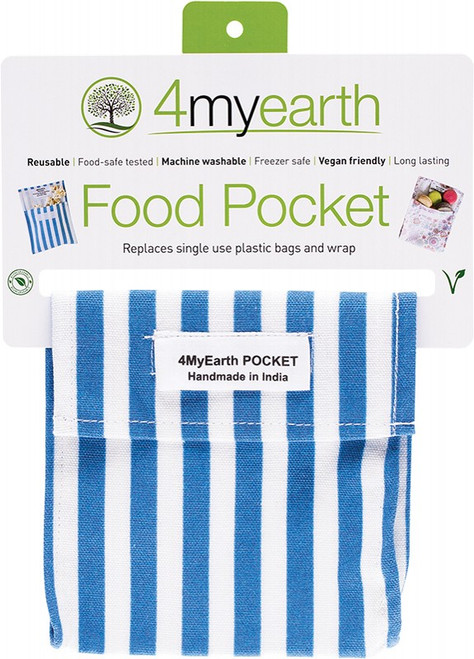 4MyEarth Food Pocket Denim Stripe 14x 14cm