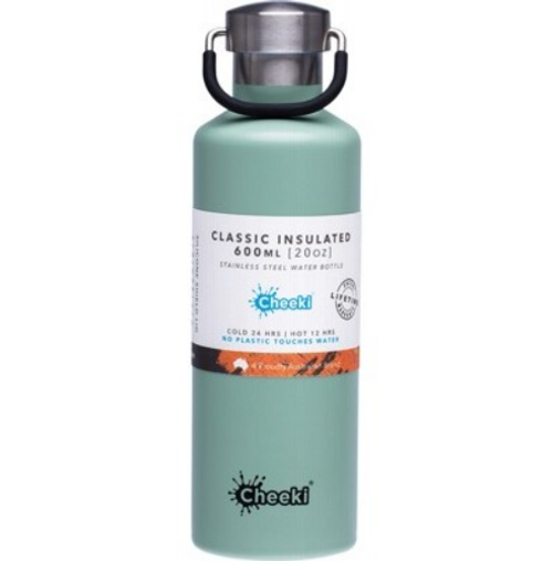 Cheeki Stainless Steel Bottle Insulated - Pistachio 600ml