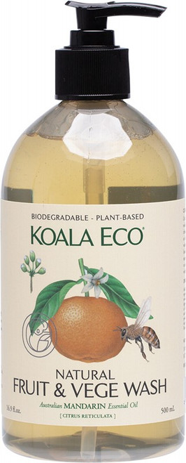 Koala Eco Fruit And Vegetable Wash 100% Mandarin Essential Oil 500ml