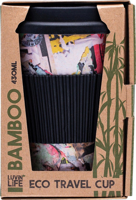 Luvin Life Bamboo Eco Travel Cup Art 430ml