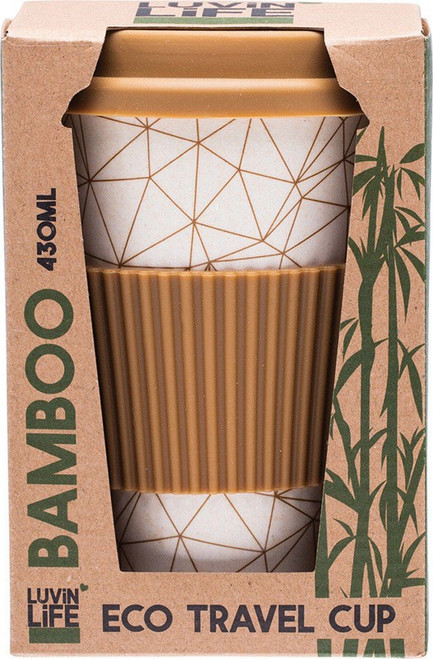 Luvin Life Bamboo Travel Cup Geo 430ml