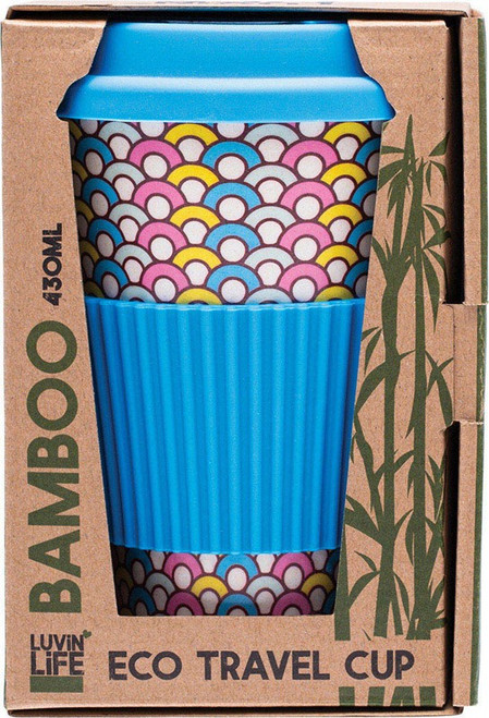 Luvin Life Bamboo Travel Cup Hoops 430ml