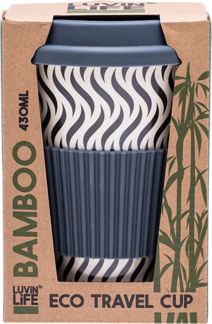 Luvin Life Bamboo Travel Cup  Wave 430ml
