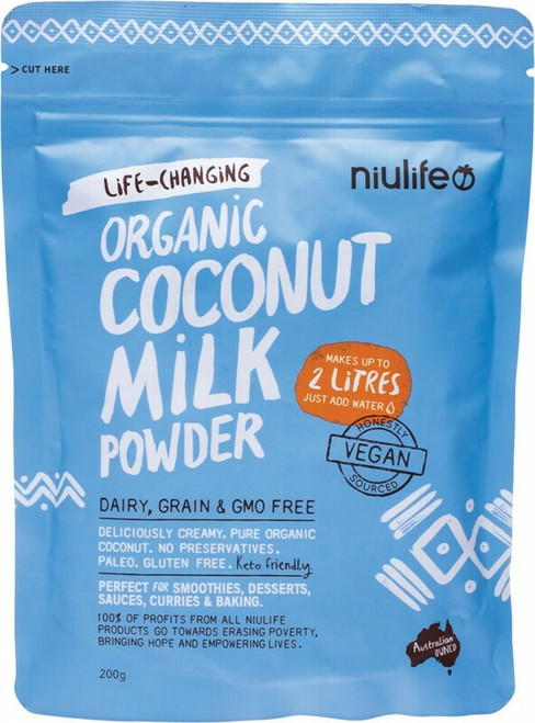 NIULIFE Coconut Milk Powder Makes Up To 2 Litres 200g
