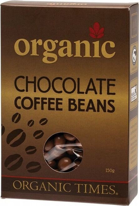 Milk Chocolate Coffee Beans 150g By Organic Times