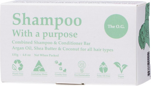 SHAMPOO WITH A PURPOSE Shampoo & Conditioner Bar The O.G. - For All Hair Types 135g
